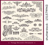 vector collection of detailed... | Shutterstock .eps vector #151579943