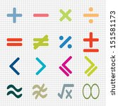 colorful of math icons design... | Shutterstock .eps vector #151581173