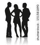 Detailed Silhouettes Of Teens...