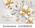 horizontal banner with gold and ... | Shutterstock .eps vector #1515848150