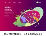 landing page template happy... | Shutterstock .eps vector #1515852113