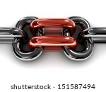 Double Red Chain Link. Concept...