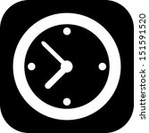 a simple clock icon | Shutterstock .eps vector #151591520