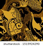 orange abstract pattern  line...   Shutterstock . vector #1515924290