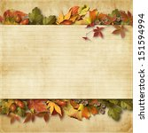 vintage background with autumn...   Shutterstock . vector #151594994