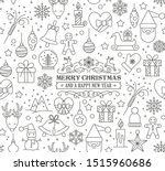 merry christmas and happy new... | Shutterstock .eps vector #1515960686