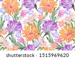 art floral vector seamless...   Shutterstock .eps vector #1515969620