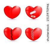 vector hearts. broken hearts... | Shutterstock .eps vector #1515970946