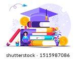 student loans vector... | Shutterstock .eps vector #1515987086