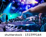dj mixes the track in the... | Shutterstock . vector #151599164