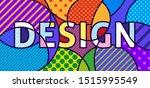 design word pop art vector... | Shutterstock .eps vector #1515995549