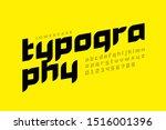 modern style lowercase font... | Shutterstock .eps vector #1516001396