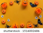 halloween holiday concept ... | Shutterstock . vector #1516002686