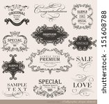 calligraphic design elements... | Shutterstock .eps vector #151608788