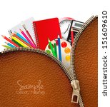 back to school. background with ... | Shutterstock .eps vector #151609610