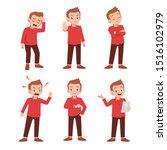 cute teen gesture many... | Shutterstock .eps vector #1516102979