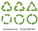 recycle vector icons. vector... | Shutterstock .eps vector #1516108769