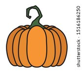 halloween pumpkin fruit...   Shutterstock .eps vector #1516186250