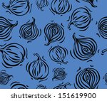 blue and black onion seamless...