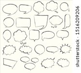 cartoon comic bubble  speech... | Shutterstock .eps vector #1516209206