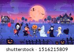 halloween costume children... | Shutterstock .eps vector #1516215809
