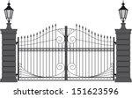 iron gate 2 | Shutterstock .eps vector #151623596