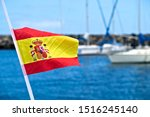 Spanish Flag In The Wind With...