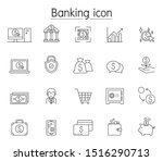 online banking icon set in thin ...   Shutterstock .eps vector #1516290713