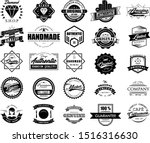 big collection of vintage logo... | Shutterstock .eps vector #1516316630