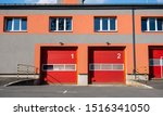 Doors Of A Fire Station With...