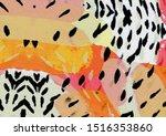 gradient watercolor abstract... | Shutterstock . vector #1516353860