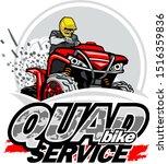 quad bike service logo ... | Shutterstock .eps vector #1516359836