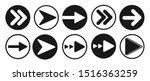 arrow icon vector sign in white ...   Shutterstock .eps vector #1516363259