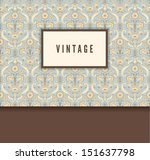 vintage decorative card with...