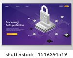 processing  data protection... | Shutterstock .eps vector #1516394519