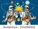cosmonautics day. two... | Shutterstock .eps vector #1516398326