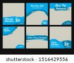 blue banner feed post vacation... | Shutterstock .eps vector #1516429556