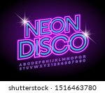 vector illuminated emblem neon... | Shutterstock .eps vector #1516463780