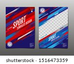 sport template design  abstract ... | Shutterstock .eps vector #1516473359