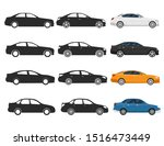 flat cars icons  3 different... | Shutterstock .eps vector #1516473449
