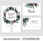 emerald christmas greenery ... | Shutterstock .eps vector #1516508120