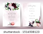 luxury fall flowers wedding... | Shutterstock .eps vector #1516508123