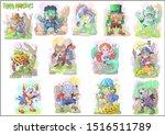 cartoon cute monsters  set of... | Shutterstock . vector #1516511789