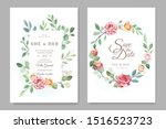 wedding invitation card with...   Shutterstock .eps vector #1516523723