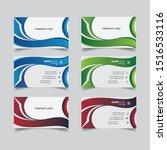 modern gradient business card...   Shutterstock .eps vector #1516533116