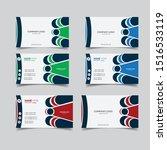 modern gradient business card...   Shutterstock .eps vector #1516533119