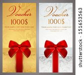 voucher  gift certificate ... | Shutterstock .eps vector #151653563