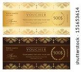 voucher  gift certificate ... | Shutterstock .eps vector #151653614