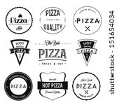 pizza labels and badges set | Shutterstock .eps vector #151654034