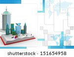 book modern city | Shutterstock . vector #151654958